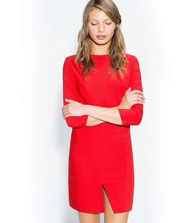 Mango Vent Cotton Dress