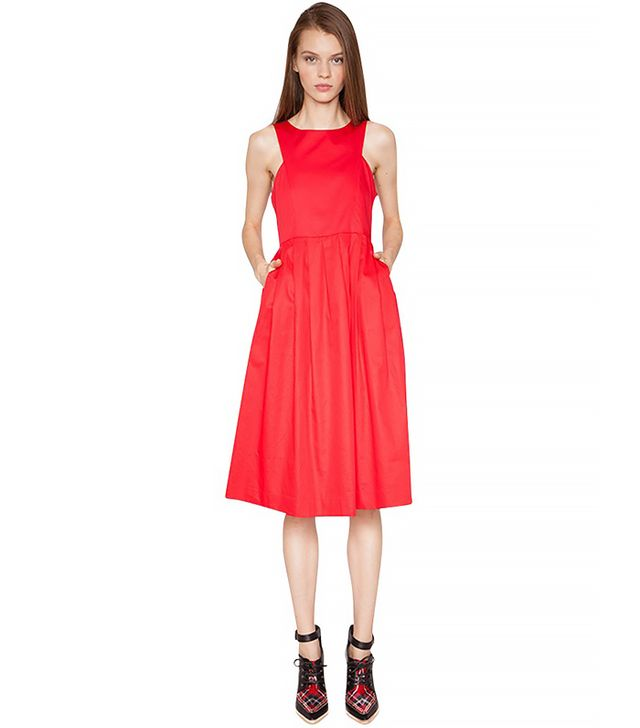Pixie Market Red Midi Dress