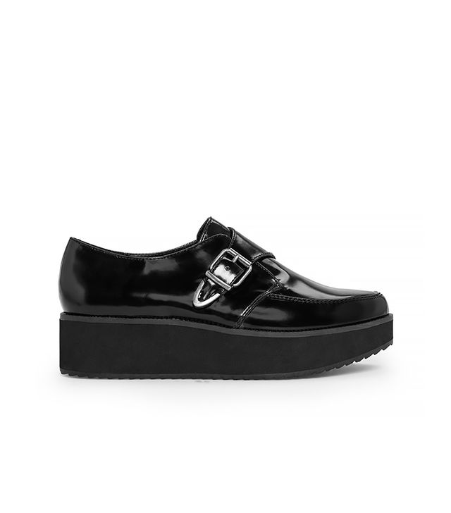 Mango Platform Monk-Strap Shoes