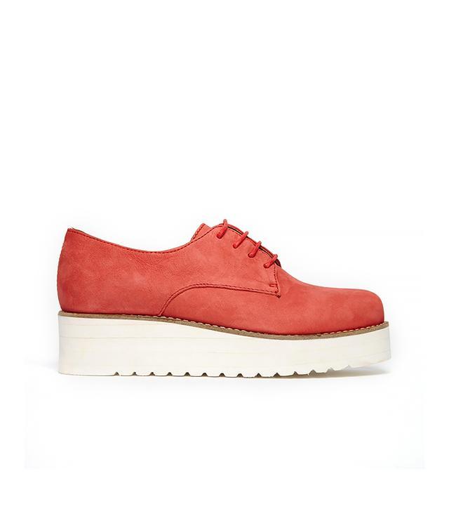 Shoe Biz Leather Creeper Flat Shoes