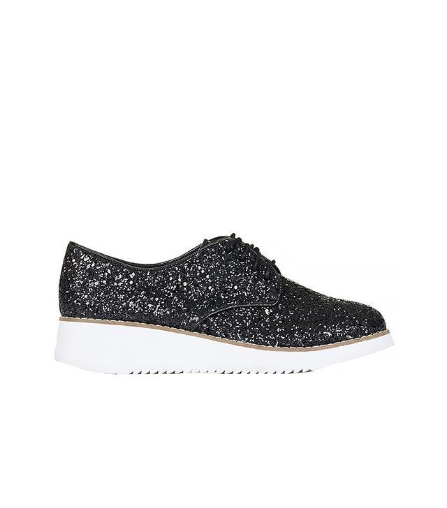 Topshop Fliss Glitter Flatform Shoes