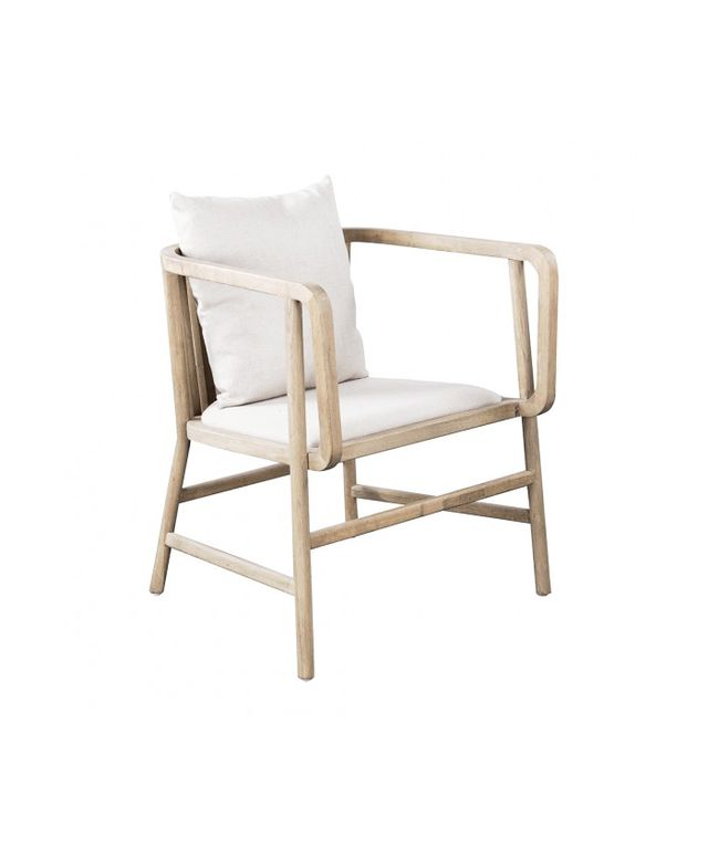 HD Buttercup Fritz Oak and Linen Lounge Chair