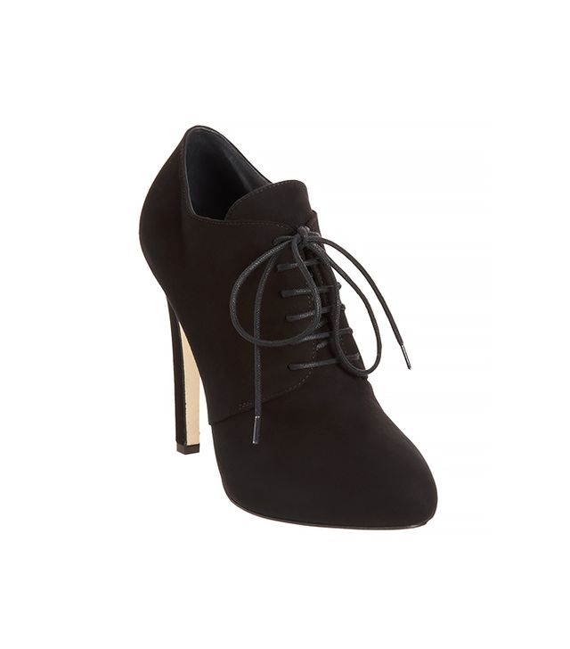 Barneys New York Lace-Up Platform Ankle Booties