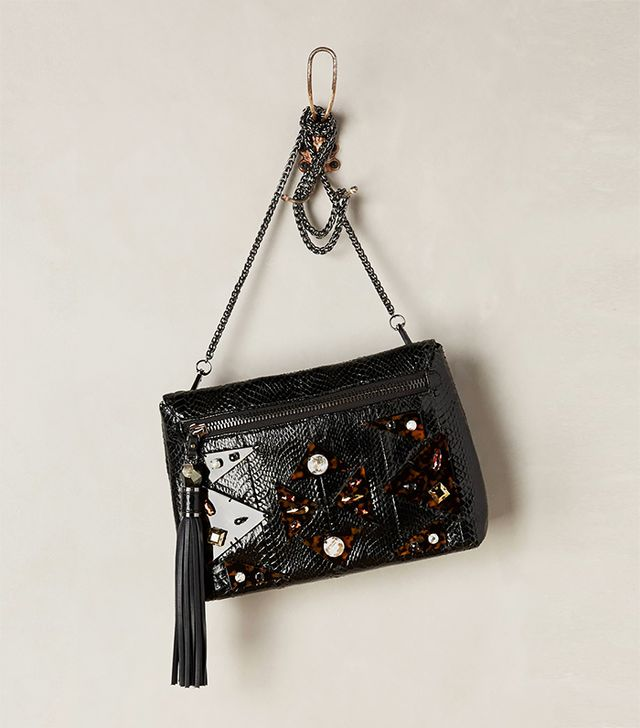 Rafe Quoin Leather Crossbody Clutch