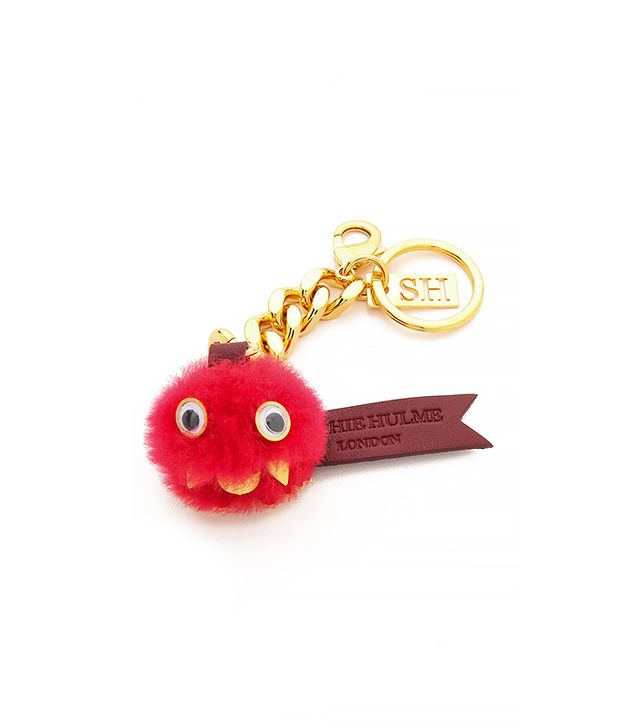 Sophie Hulme Small Pom Pom Key Chain