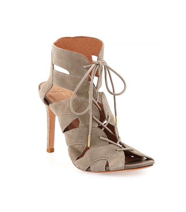 Joie Bonnie Suede Lace-Up Sandals