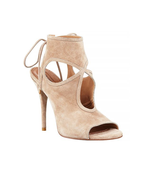 Aquazzura Sexy Thing Suede Cutout Sandals