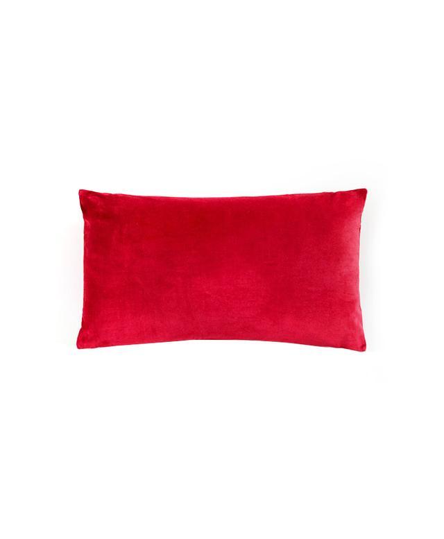 World Market Red Velvet Lumbar Pillow