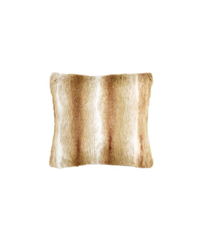 World Market Brown Faux Fur Throw Pillow