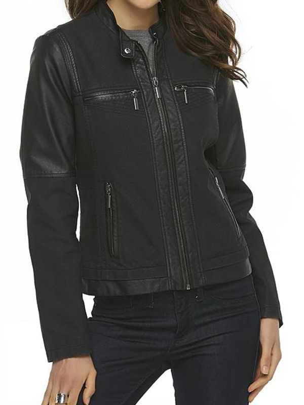 Metaphor Faux Leather Jacket