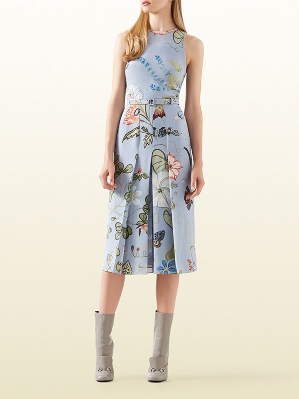 Gucci Flora Knight Light Matte Cady Dress