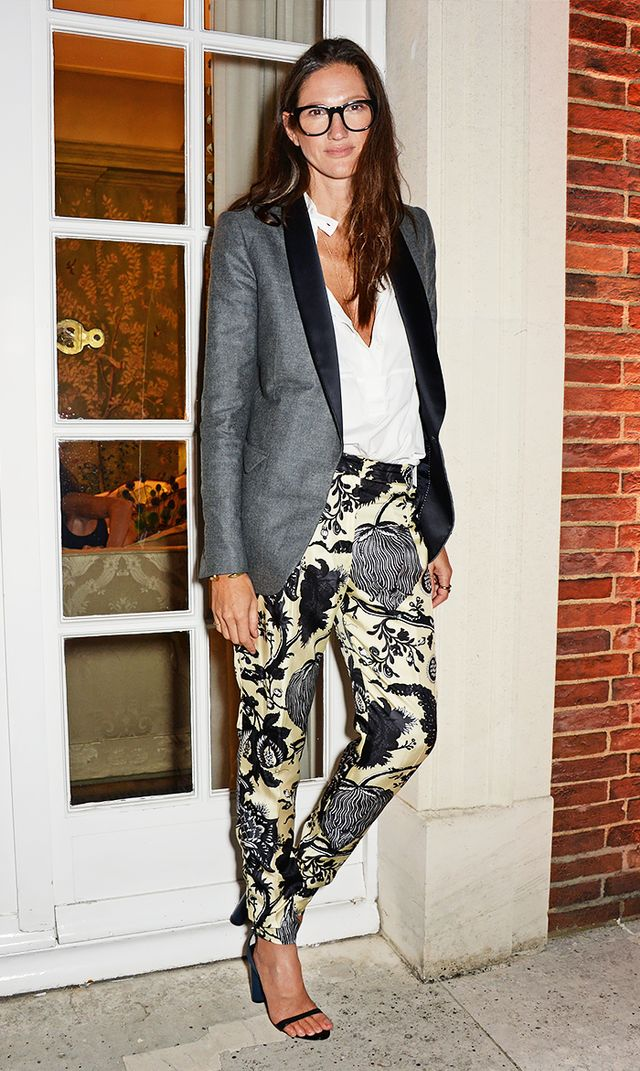 Jenna Lyons' Uniform: Deep V-Neck Top + Trousers