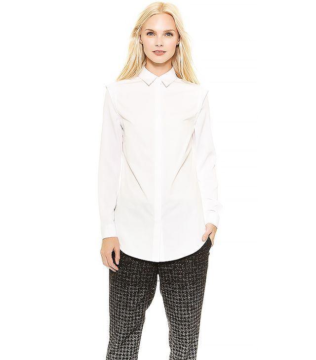 Public School Button Up Shirt with Recessed Shoulder
