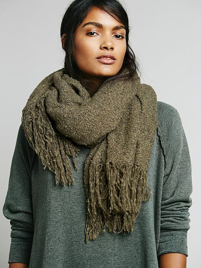 Free People Demi Bloucle Oversized Scarf