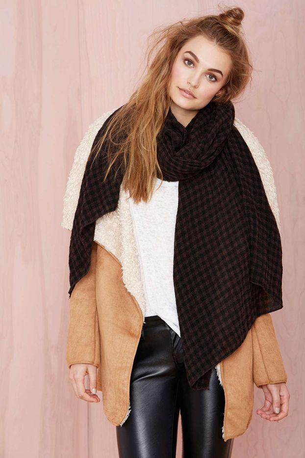 Nasty Gal Check Me Out Scarf