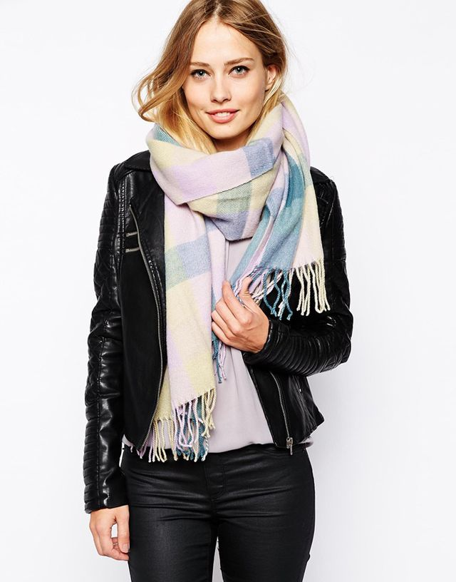Warehouse Pastel Blanket Check Scarf