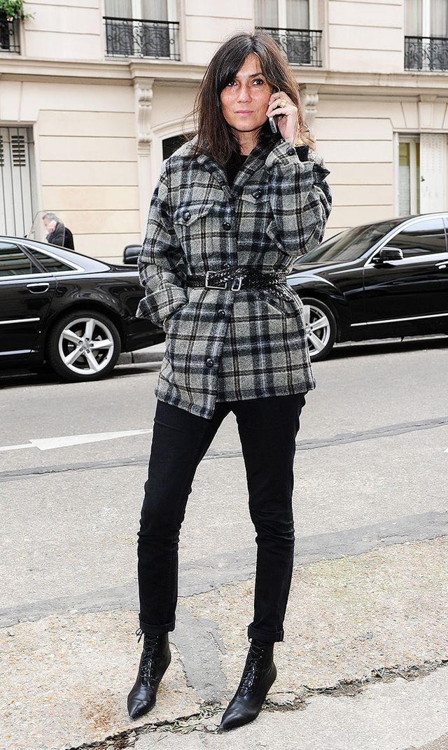 Emmanuelle Alt's Uniform: Belted Jacket + Skinny Pants