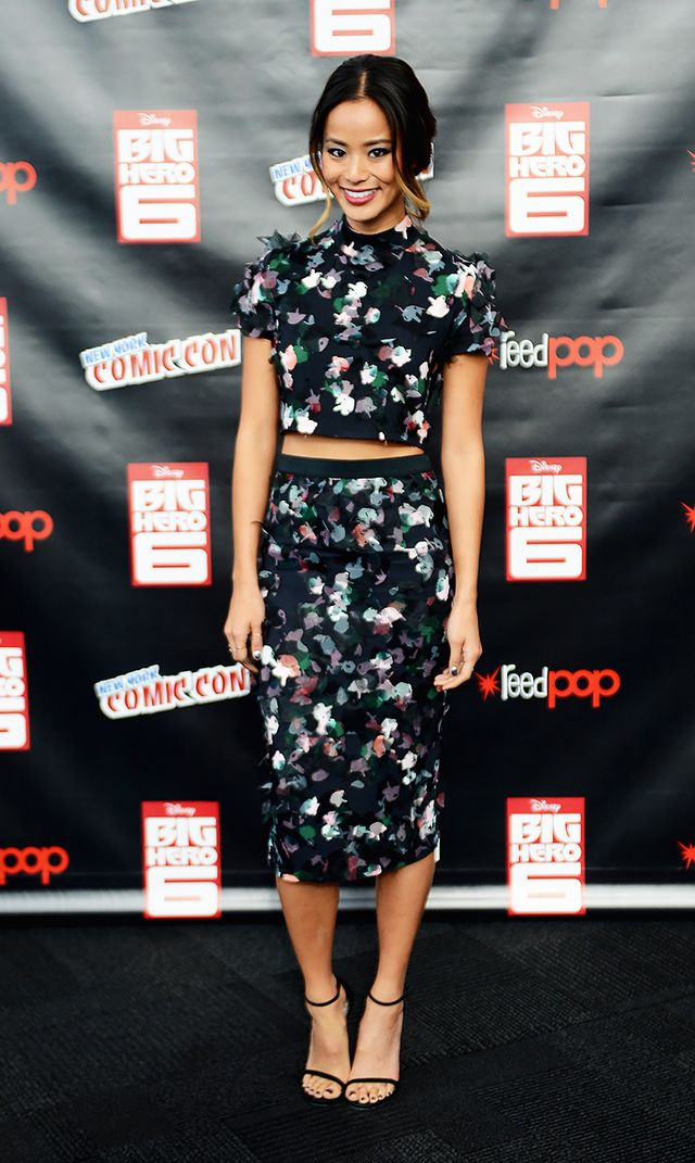 Jamie Chung's Uniform: Crop Top + Matching Set