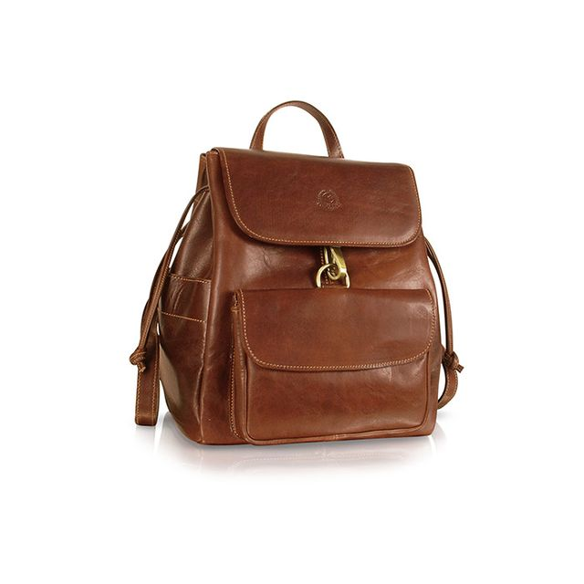 Chiarugi Handmade Brown Genuine Leather Backpack