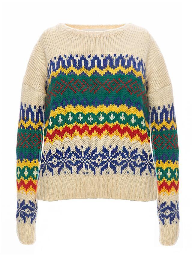 Pixie Market Ivory Heritage Sweater