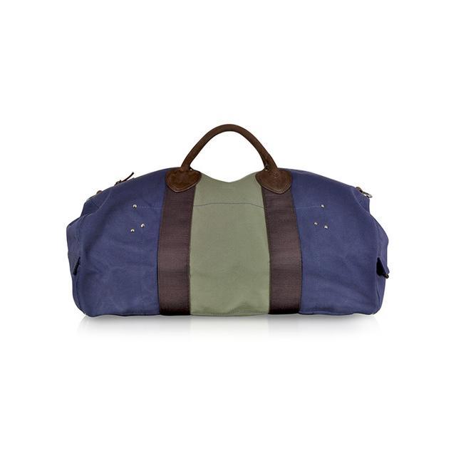 Jerome Dreyfuss Arnaud Marine Blue and Khaki Fabric Bag