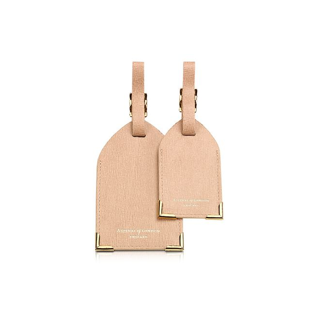 Aspinal of London Set of 2 Deer Saffiano Leather Luggage Tags