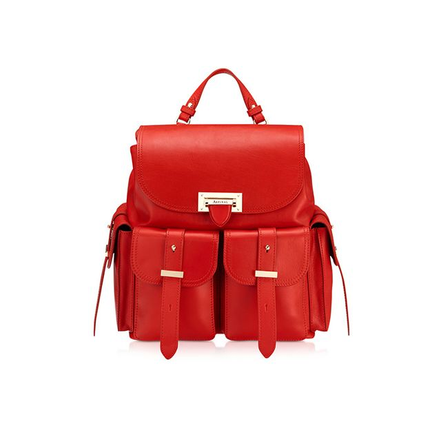 Aspinal of London Smooth Berry Letterbox Rucksack