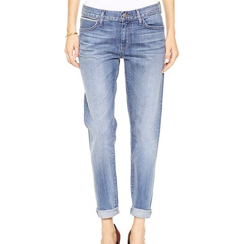 Relaxed Skinny Jeans With Double Roll