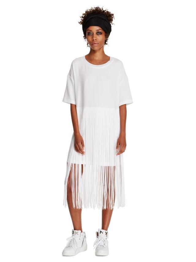 DKNY Fringe Tunic Dress