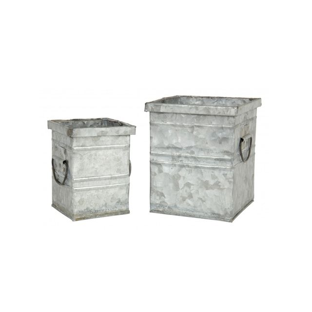 Jayson Home Galvanised Tin Containers