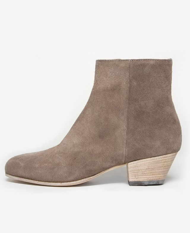 Woman by Common Projects Suede Zip Ankle Boots