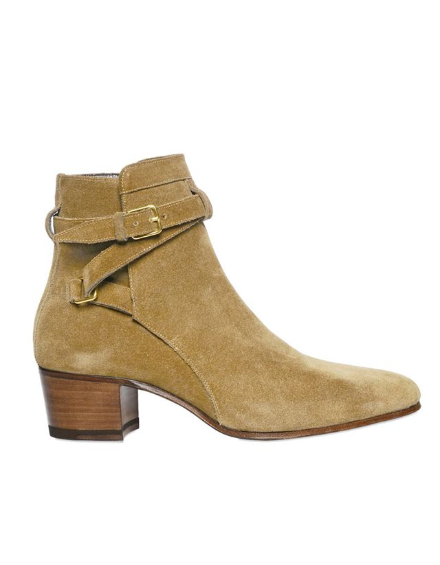 Saint Laurent 40mm Blake Suede Ankle Boots