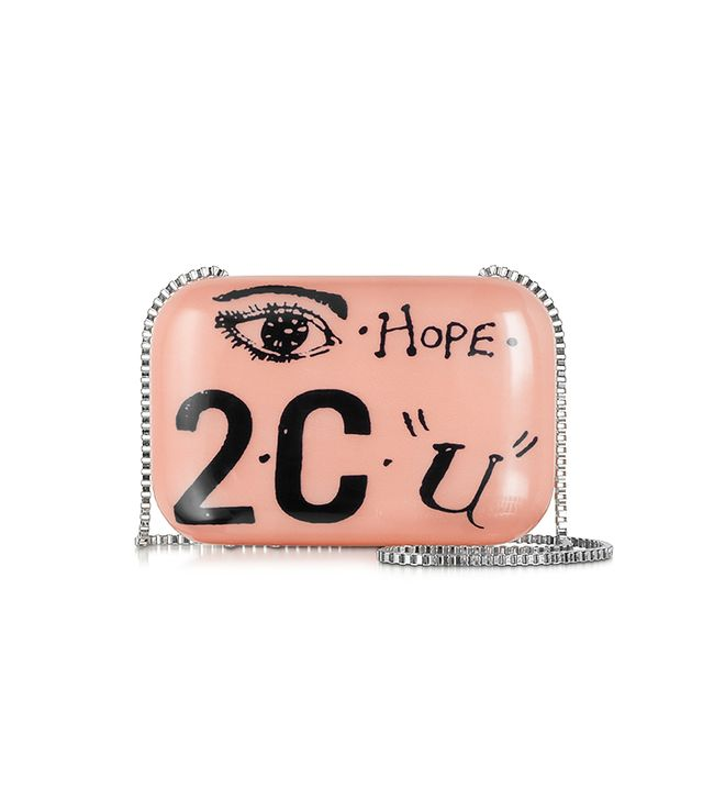 Carven Blush Printed Clutch