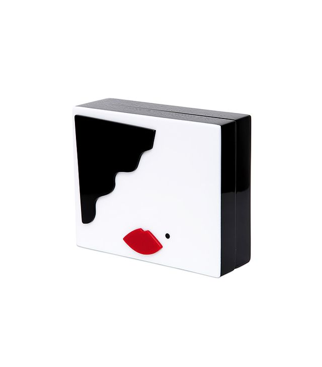 Lulu Guinness Face Perspex Clutch