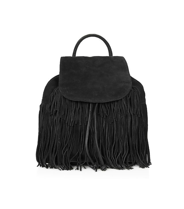 Topshop Fringed Suede Backpack