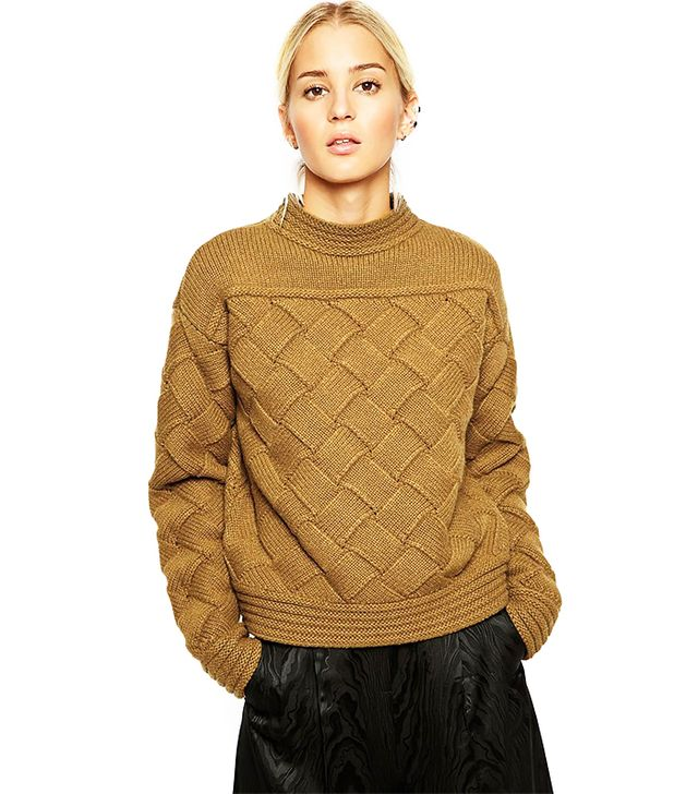 ASOS Basket Weaved Crop Sweater