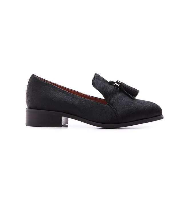 Jeffrey Campbell Lawford Tassle Haircalf Loafers