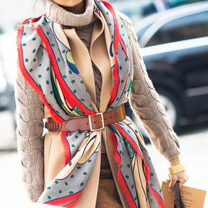 The Genius New Way to Wear a Scarf This Fall