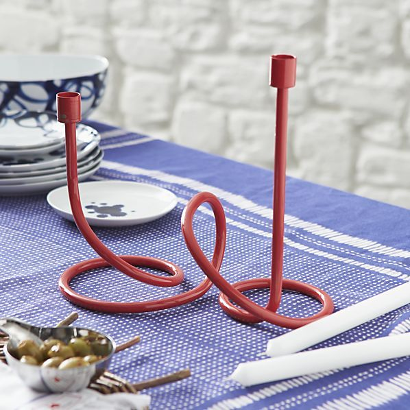 Paolo Navone for Crate & Barrel Como Large Loopy Candleholder