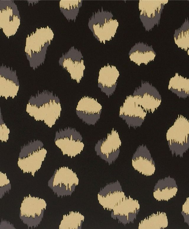 "Kelly Wearstler for Groundworks ""Feline"" Wallpaper in Ebony/Beige"