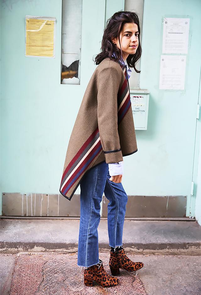Raw-Edge Jeans + Leopard-Print Boots
