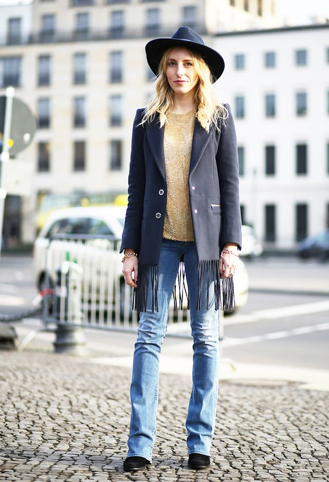 Boot-Cut Jeans + Suede Boots