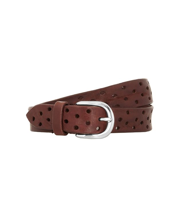 Isabel Marant Klaude Perforated Leather Belt