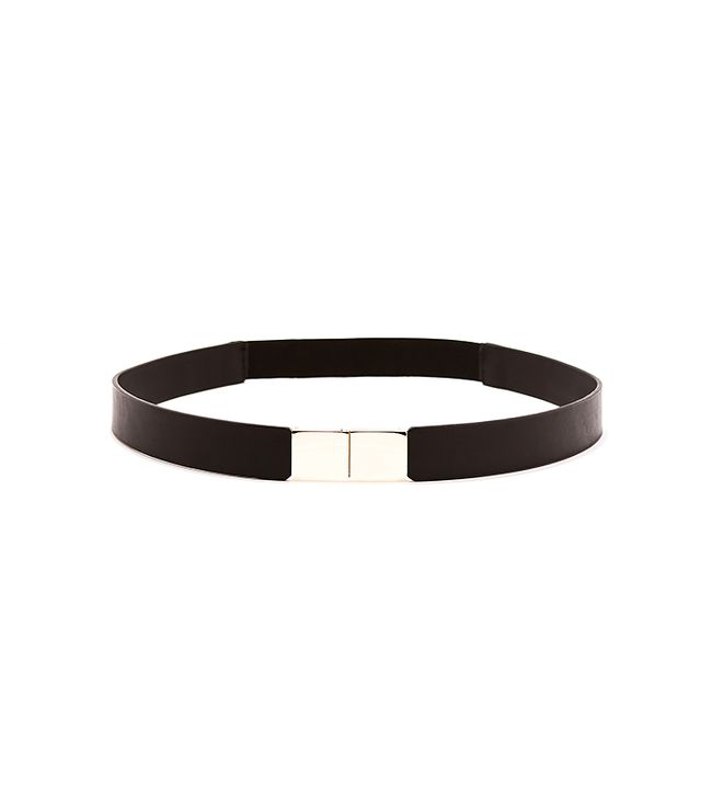 Zara Double Belt With Square Buckle