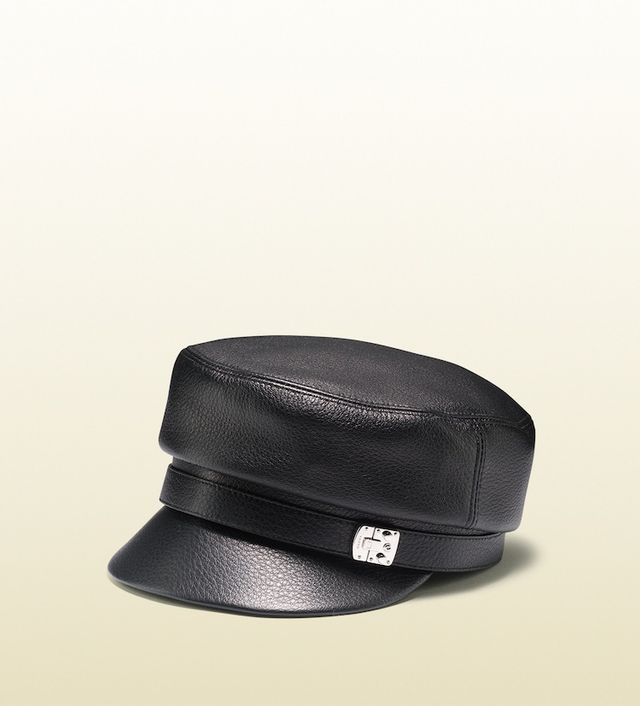 Gucci Leather Driver Cap