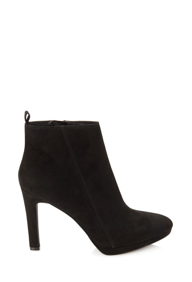 Forever 21 Faux Suede Heeled Booties