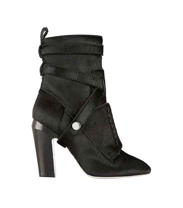 Fendi Calf Hair Ankle Boots