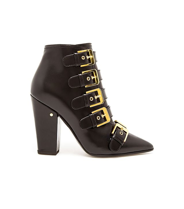Laurence Dacade Merli Suede Studded Boots in Anthracite & Rutenium