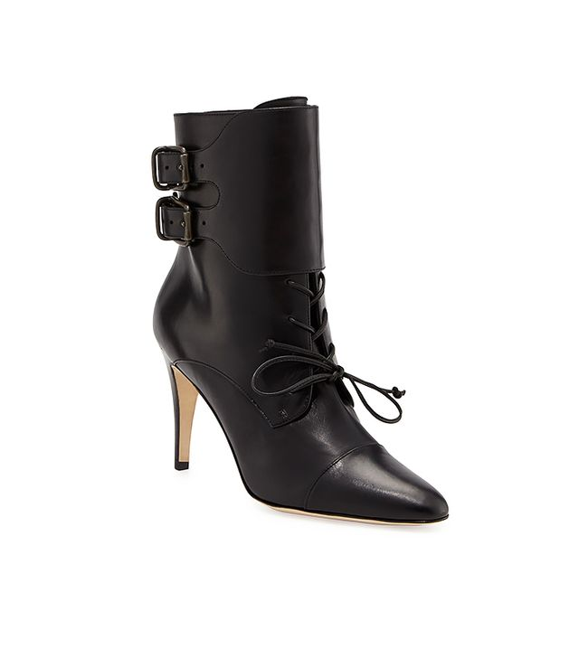 Manolo Blahnik Secunda Lace-Up Ankle Boot