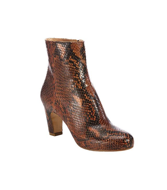 Maison Martin Margiela Snakeskin Curved Heel Ankle Boots